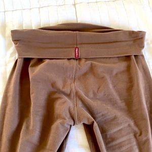 Brown hardtail roll down bootleg flare pants